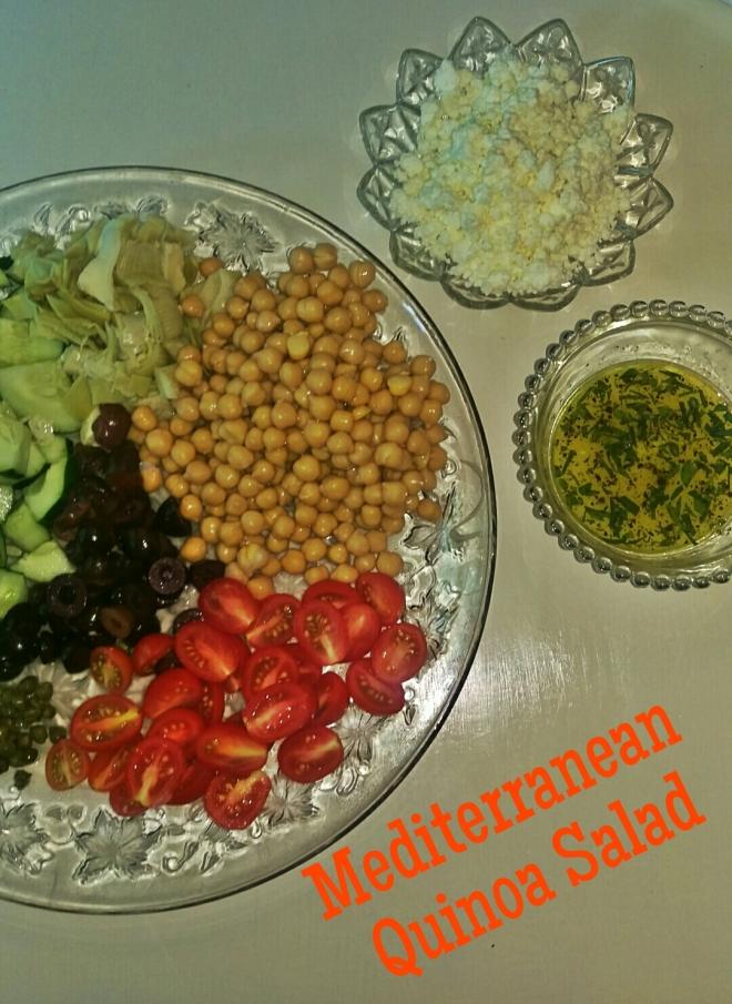 Mediterranean Quinoa Salad || Biscuits & Burlap
