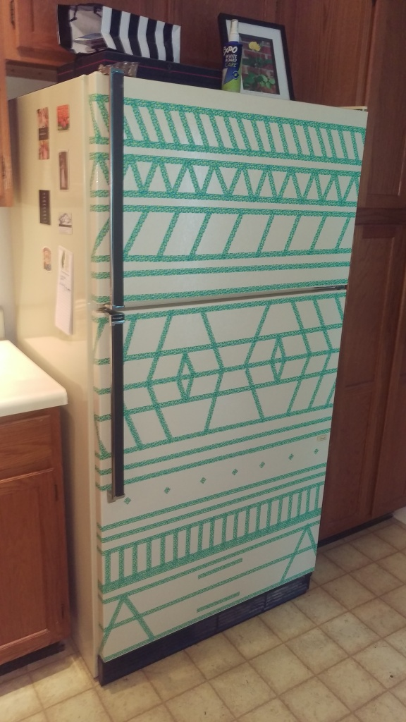 Washi Tape Fridge Update || Biscuits & Burlap